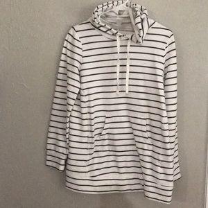 Long Sleeve Maternity Hooded Sweatshirt